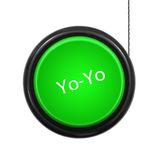 YoYo. A toy yoyo isolated against a white background Royalty Free Stock Image