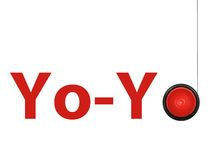 YoYo. A toy yoyo isolated against a white background Royalty Free Stock Photos