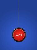 YoYo. A toy yoyo isolated against a white background Stock Photography