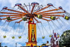 YoYo Carnival Ride at Walworth County Fair royalty free stock images
