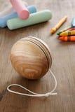 Yoyo de madera Imagenes de archivo
