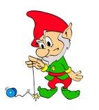 Yoyo del duende de la Navidad Foto de archivo