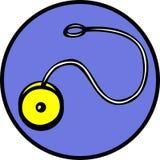 Yoyo spinning toy vector illustration. Vector illustration of a yoyo spinning toy Stock Photos