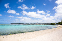 Ypao beach in Guam. On a sunny day stock photos