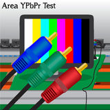 YPbPr signal Test in Process Royalty Free Stock Photos