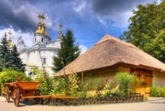 Ypical ukrainian courtyard. View of typical ukrainian courtyard Royalty Free Stock Images