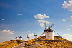 Ypical windmills of Region of Castilla la Mancha Royalty Free Stock Photos