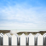Yport, between Etretat and Fecamp, Normandy. Beach huts or cabin Stock Images