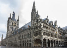 Ypres Belfry and town hall. Stock Photo