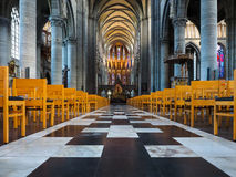 Ypres Cathedral interior Stock Image