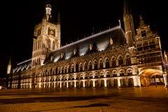 Ypres Cloth Hallen, Ieper, Belgium royalty free stock photo