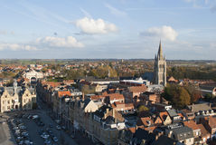 Ypres - Ieper skyline royalty free stock photo