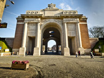 Ypres Menin Gate. World War 1 British Memorial in Ypres Stock Photos