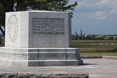 Ypres som ses från kulle 62 Arkivfoto