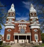 Ypsilanti教会 免版税图库摄影