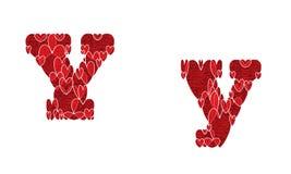 Ypsilon, gemacht von den Herzen Lizenzfreie Stockfotos