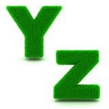 Ypsilons, Z 3d des grünen Grases - Satz Stockfotos
