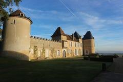 ` Yquem du château d pendant le lever de soleil, sauternes Photos stock