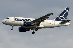 YR-ASB TAROM Romanian Air Transport , Airbus A318 -100 Royalty Free Stock Photos