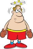 Yr boxare för tecknad film stock illustrationer