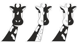 Żyrafa czarny i biały Fotografia Royalty Free