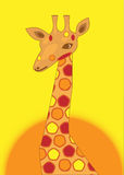 żyrafa punkt Fotografia Royalty Free
