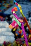 Żyrafa zrobił fom szklanym koralikom Obrazy Royalty Free