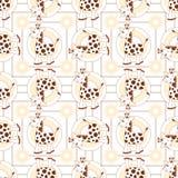 żyrafy bezszwowy deseniowy Fotografia Stock