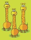 Żyrafy clipart Fotografia Stock