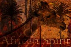 żyrafy ilustracja Zdjęcia Royalty Free
