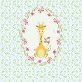 Żyrafy tło royalty ilustracja