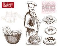 Yrke av kocken vektor illustrationer