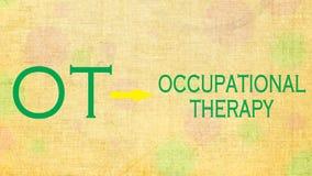 Yrkes- terapi OT royaltyfria foton