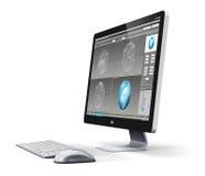 Yrkesmässig arbetsstation för skrivbords- dator royaltyfri illustrationer