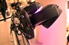 Yrkesmässig belysningsutrustning för showbusiness Fotografering för Bildbyråer