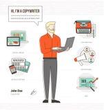 Yrkesmässig copywriter vektor illustrationer