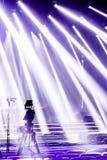 Yrkesmässig digital videokamera, tvkamera i en konserthall Arkivfoton