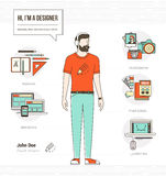 Yrkesmässig formgivare stock illustrationer