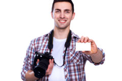 Yrkesmässig fotograf Royaltyfria Foton