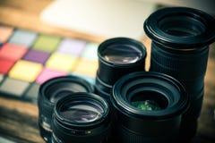 Yrkesmässig fotografiutrustning fotografering för bildbyråer