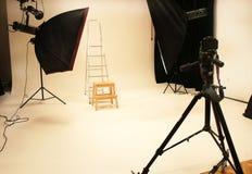 Yrkesmässig fotostudio och utrustning Royaltyfri Bild