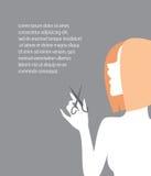 Yrkesmässig frisör stock illustrationer