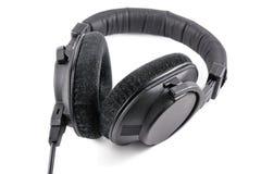 Yrkesmässig hörlurar som isoleras på vit bakgrund Arkivfoto
