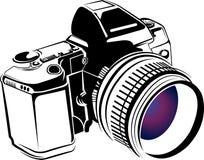 Yrkesmässig kameralogo royaltyfri illustrationer