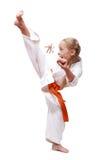 Yrkesmässig karateflicka Royaltyfria Foton