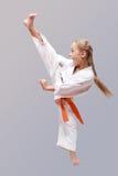 Yrkesmässig karateflicka Fotografering för Bildbyråer
