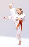 Yrkesmässig karateflicka Royaltyfria Bilder