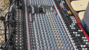 Yrkesmässig ljudsignal blandare Arkivfoton