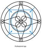 Yrkesmässig logo royaltyfri foto