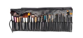 Yrkesmässig makeup borstar Arkivbild
